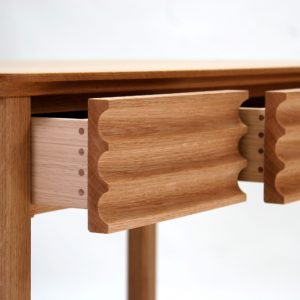 Fluted Oak Desk