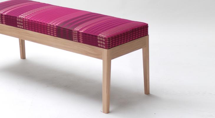 Oscar Bench in Rozella Fabric