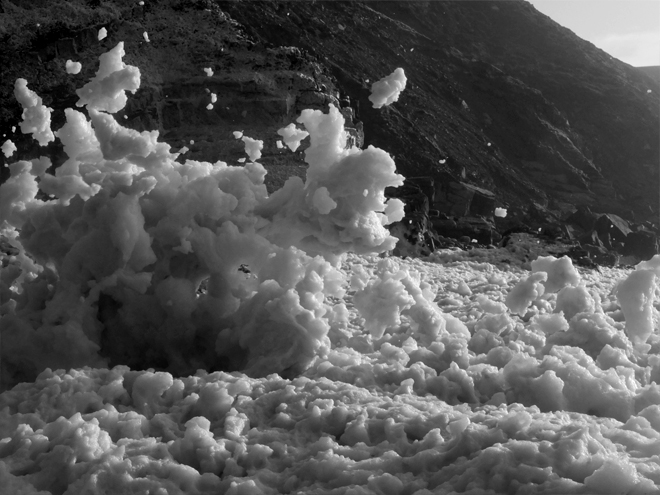 Image of foam on the beach