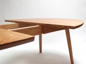 Image of extending table in open position