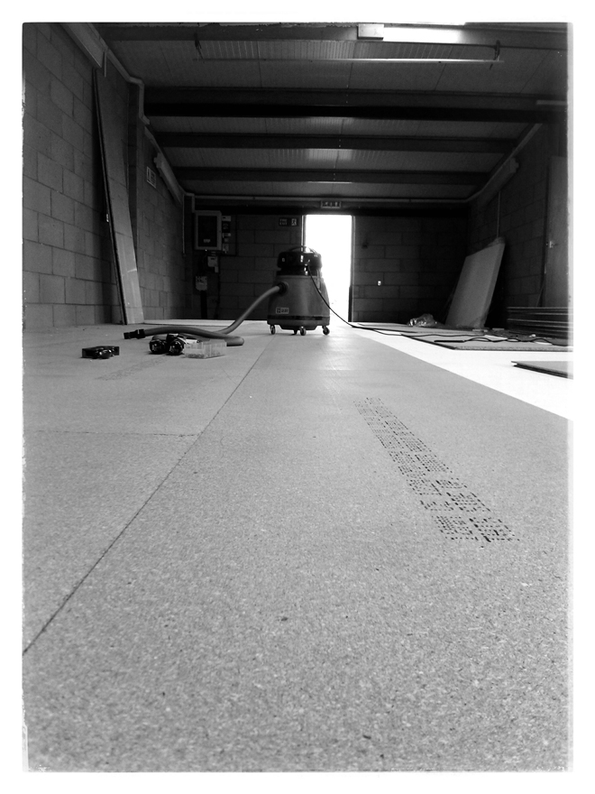 Fitting the workshop floor