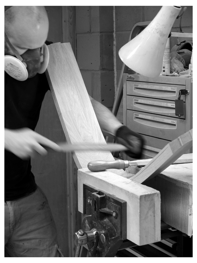 Shaping seat backs for YorkArt GAllery