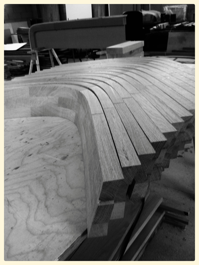 All backs band sawn out.