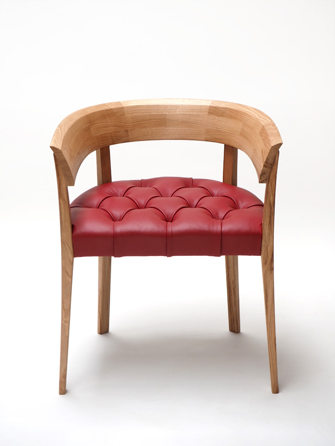 Alice chair red leather