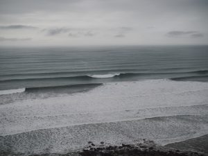 Image of waves as seen from the cliffs at Duckpool