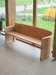an image of the bench in situ