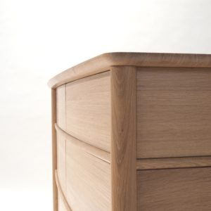 Textured oak chest