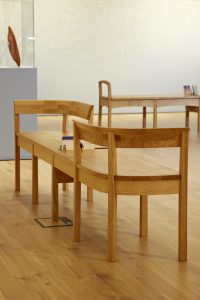 Image of bench in Gallery