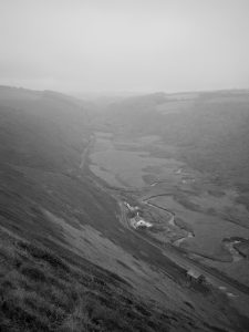 View up Coombe valley from Duckpool cliffs