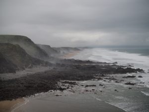 Image of the view looking towards Sandymouth from Duckpool cliff
